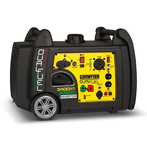 Champion 3400-Watt Dual Fuel RV Ready Portable Inverter Generator with Electric