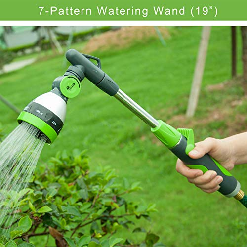 Yestar 19 Inch Watering Wand, 2-in-1 Garden Lawn Hose Nozzle Spray Wand