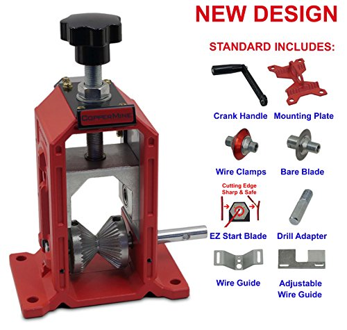 Manual Cable Wire Stripping Machine, Copper Wire Stripper Hand Crank And