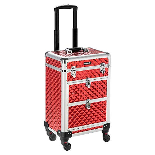 Mefeir Makeup Trolley Professional Artist Rolling Train Case