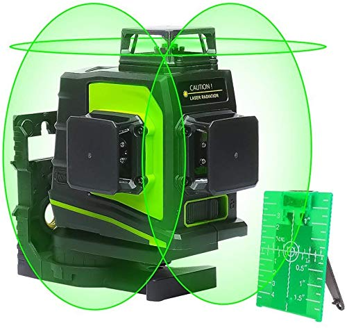 Huepar 3D Green Beam Self-Leveling Laser Level 3x360 Cross Line Three-Plane
