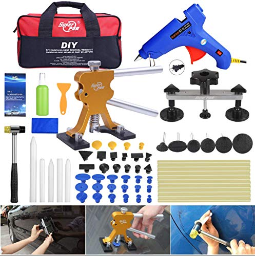 Fly5D 53Pcs Auto Body Paintless Dent Repair(PDR) Removal Tool Kits Dent