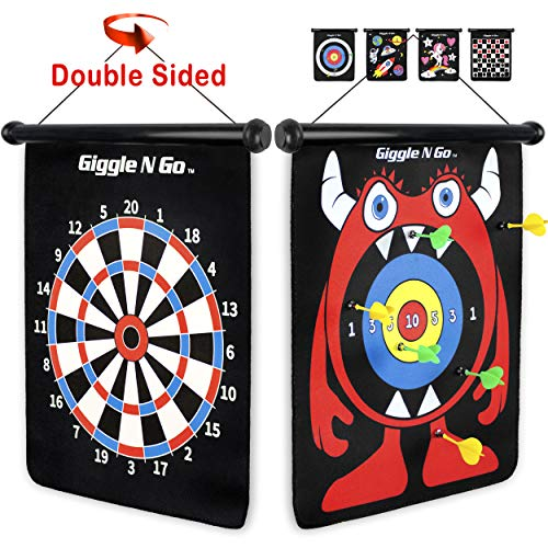 GIGGLE N GO Magnetic Dart Board Game - Our Reversible