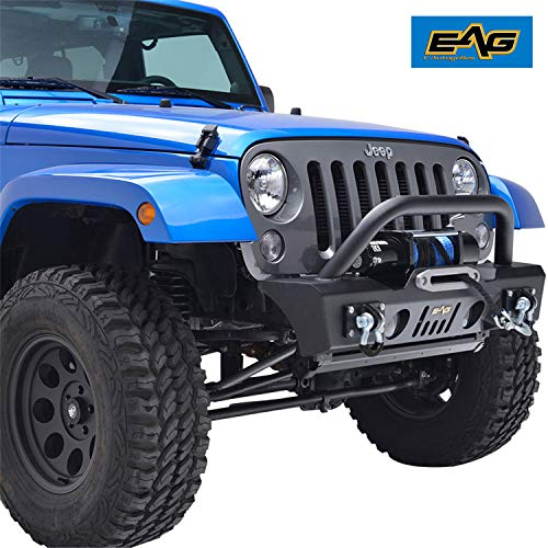 EAG Stubby Front Bumper with OE Fog Light Housing