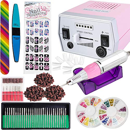 IMeshbean Colorful Complete Professional Improved Electric Nail File Drill