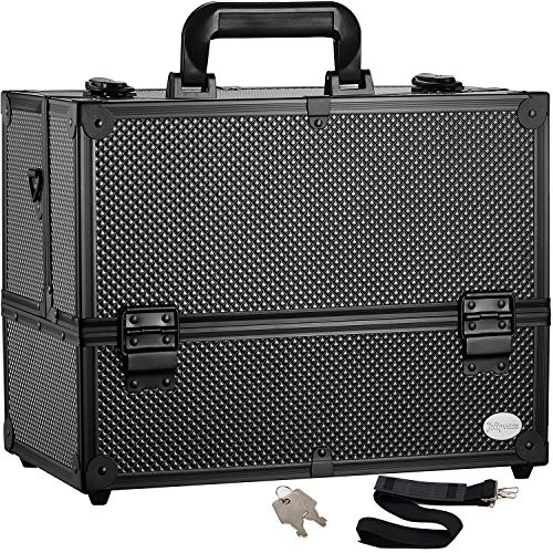 Makeup Train Case Professional Adjustable - 6 Trays Cosmetic Cases