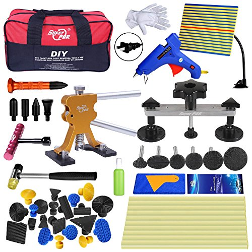 Super PDR Dent Puller Kit,PDR Tools 52Pcs Dent Remover for Car Body Dent